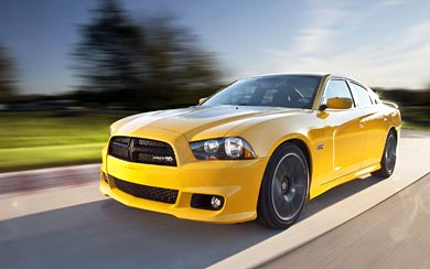 2012 Dodge Charger SRT8 Super Bee wallpaper thumbnail.