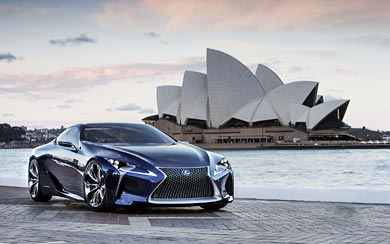 2012 Lexus LF-LC Blue Concept wallpaper thumbnail.