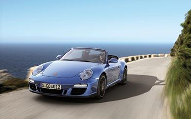 2012 Porsche 911 Carerra 4 GTS Cabriolet wallpaper thumbnail.
