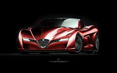 2012 Ugur Sahin Design Alfa Romeo 12C GTS wallpaper thumbnail.