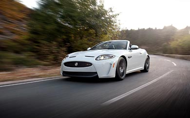 2013 Jaguar XKR-S Convertible wallpaper thumbnail.