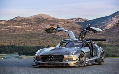 2013 Mercedes-Benz SLS AMG GT3 45th Anniversary wallpaper thumbnail.
