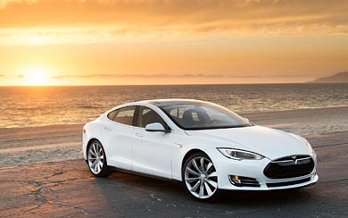 2013 Tesla Model S wallpaper thumbnail.