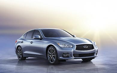 2014 Infiniti Q50 wallpaper thumbnail.