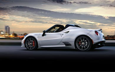 2015 Alfa Romeo 4C Spider wallpaper thumbnail.