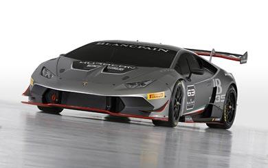 2015 Lamborghini Huracan LP620-2 Super Trofeo wallpaper thumbnail.