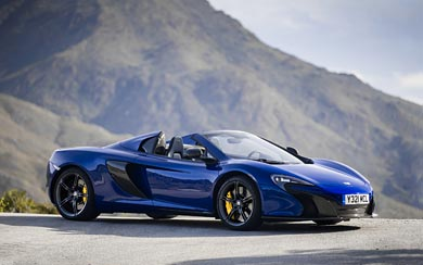 2015 McLaren 650S Spider wallpaper thumbnail.