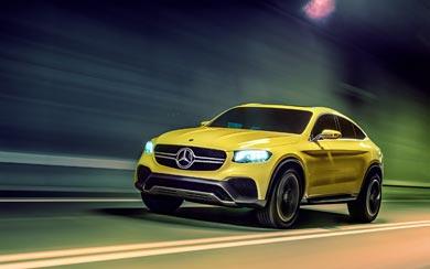 2015 Mercedes-Benz GLC Coupe Concept wallpaper thumbnail.
