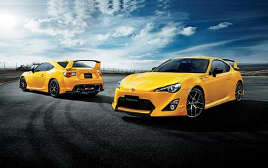 2015 Toyota GT 86 Yellow Limited wallpaper thumbnail.