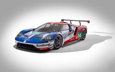 2016 Ford GT Le Mans Racecar wallpaper thumbnail.