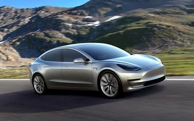 2016 Tesla Model 3 Prototype wallpaper thumbnail.