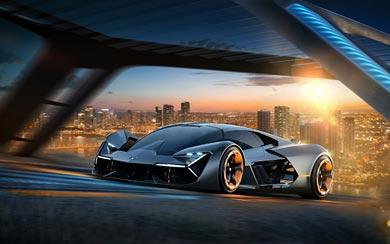 2017 Lamborghini Terzo Millennio Concept wallpaper thumbnail.