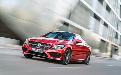 2017 Mercedes-Benz C-Class Coupe wallpaper thumbnail.