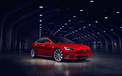 2017 Tesla Model S P90D wallpaper thumbnail.