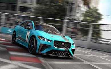 2018 Jaguar I-Pace eTrophy wallpaper thumbnail.