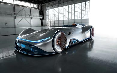 2018 Mercedes-Benz Vision EQ Silver Arrow Concept wallpaper thumbnail.