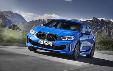 2020 BMW M135i wallpaper thumbnail.