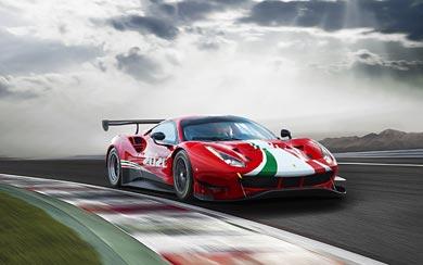 2020 Ferrari 488 GT3 Evo wallpaper thumbnail.
