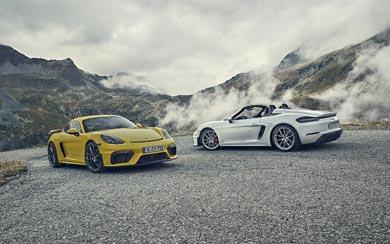 2020 Porsche 718 Boxster Spyder wallpaper thumbnail.