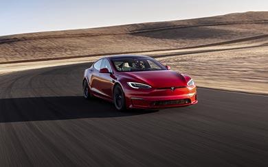 2021 Tesla Model S Plaid wallpaper thumbnail.