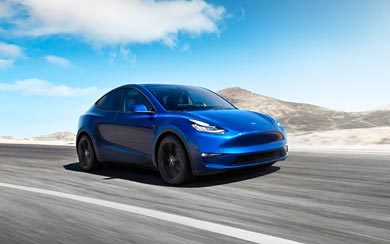 2021 Tesla Model Y wallpaper thumbnail.