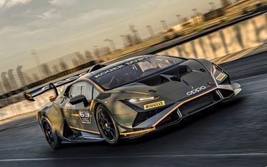 2022 Lamborghini Huracan Super Trofeo EVO2 wallpaper thumbnail.